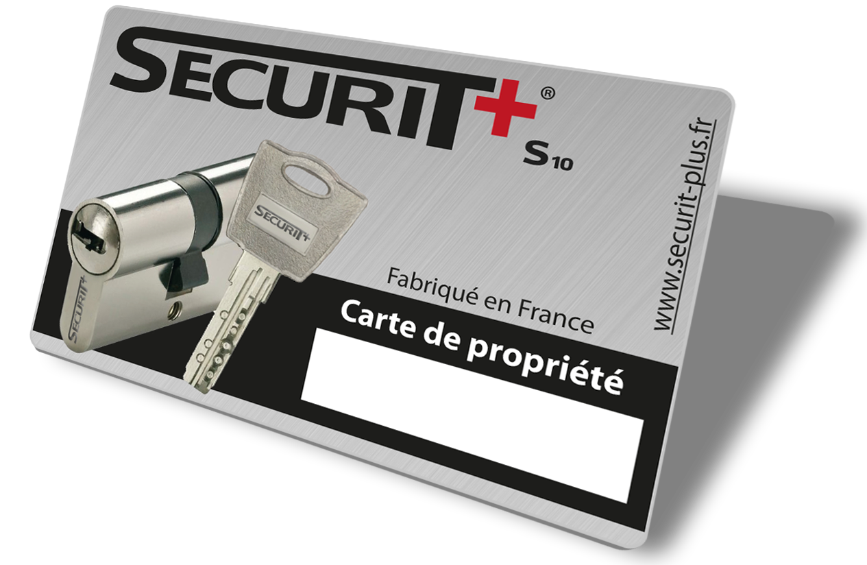Carte securit plus recto S105