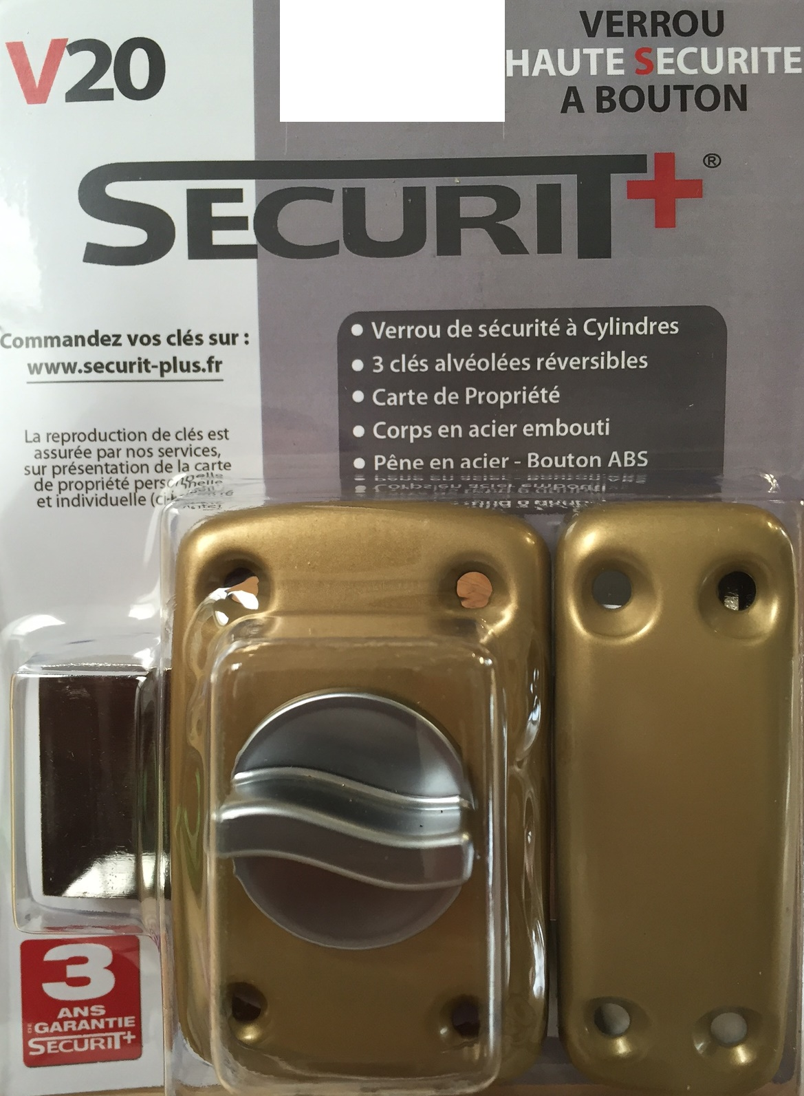SECURIT+ V20 Bouton