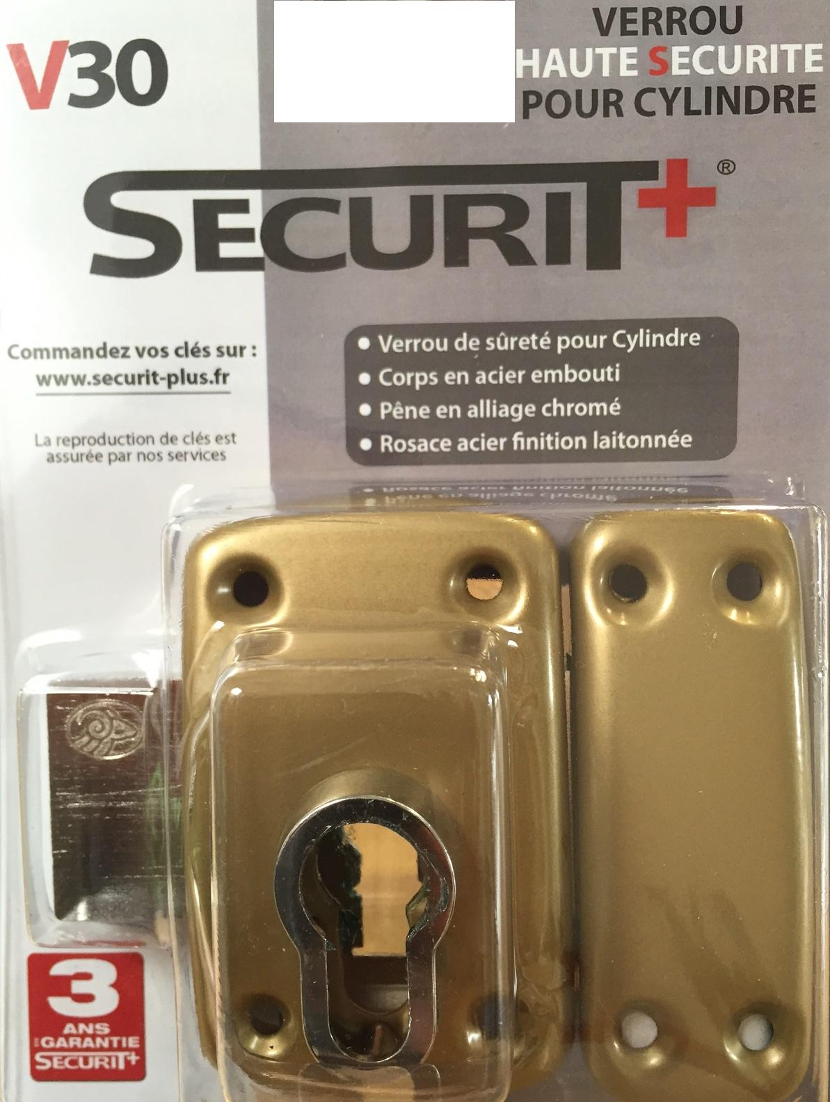 SECURIT+ V30 pour cylindre européen